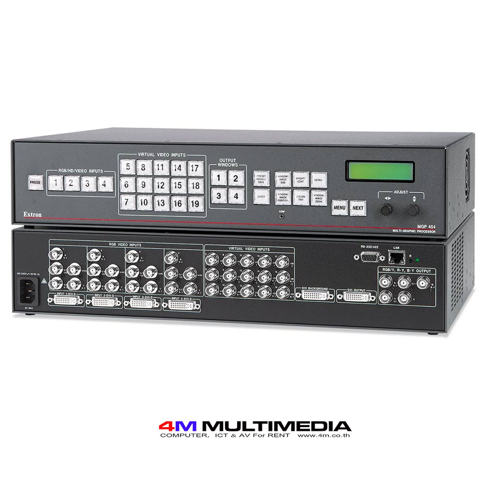 Extron MGP464 (DI version) – Provide IT equipment rental